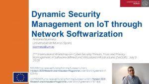 SecSoft 2020 – Keynote Antonio Skarmeta